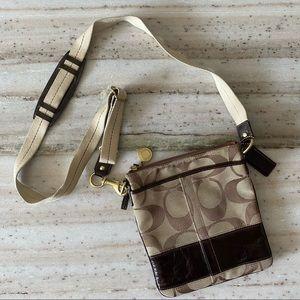 Coach Signature Stripe Swingpack Messenger Bag